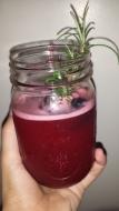 Blackberry Rosemary Whiskey Lemonade
