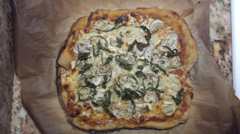 Eggplant, Pepper, and Garlic Pizza
