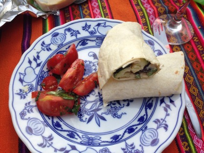 Halloumi, Red Pepper and Rosemary Veg Wraps